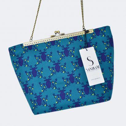 Geanta handmade Blue Vintage