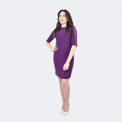 Rochie de zi eleganta Purple Lace